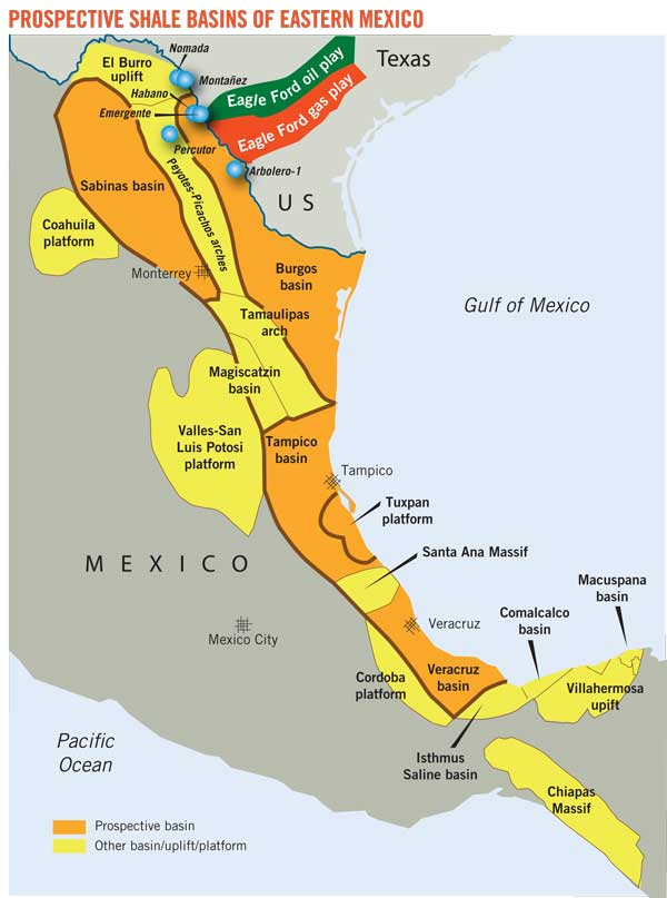 MEXICO Oil Reserves And Production Peak Oil Barrel - Us shale oil reserves map