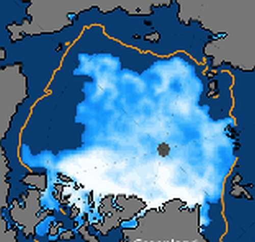 very little contiguous ice left in the arctic ocean